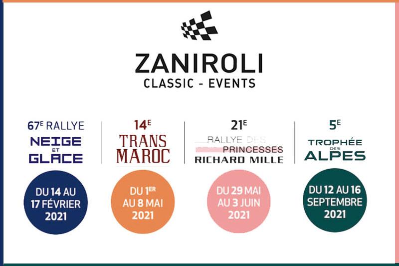 Zaniroli Classic Events : le calendrier 2021