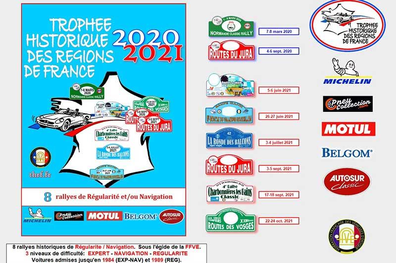 Trophée Historique des Régions de France (THRF) : calendrier 2020 2021