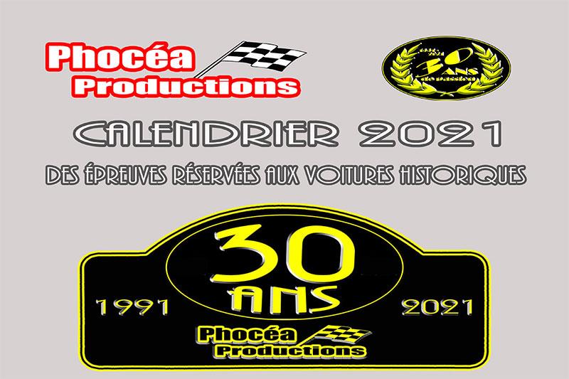 Phocéa Productions : le calendrier 2021