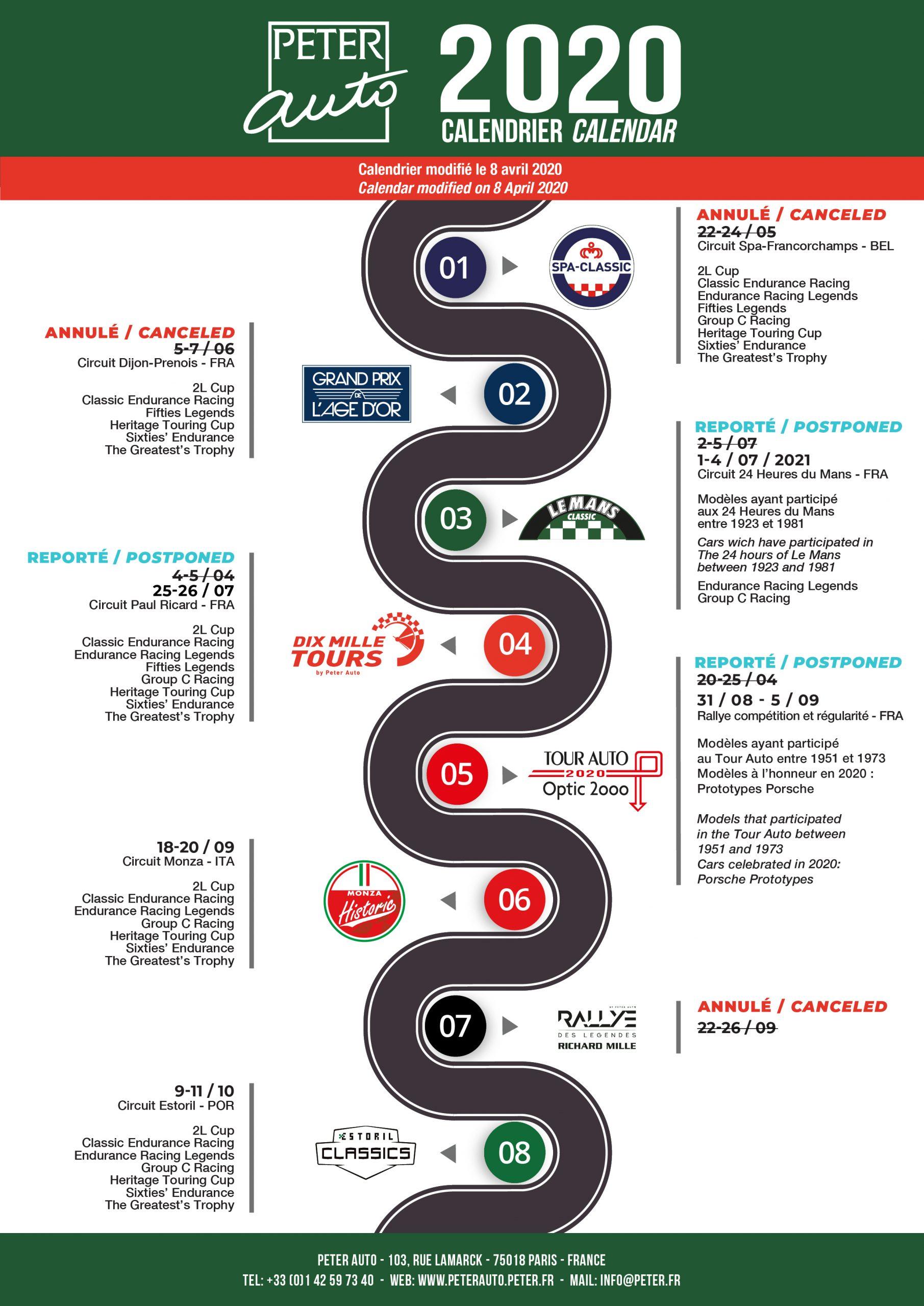 Le nouveau calendrier Peter Auto 2020