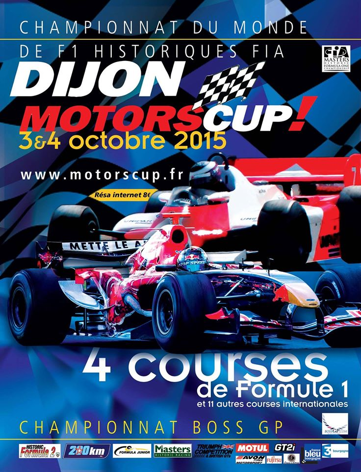 dijon motorscup le retour de la f1 les 3 4 octobre. Black Bedroom Furniture Sets. Home Design Ideas