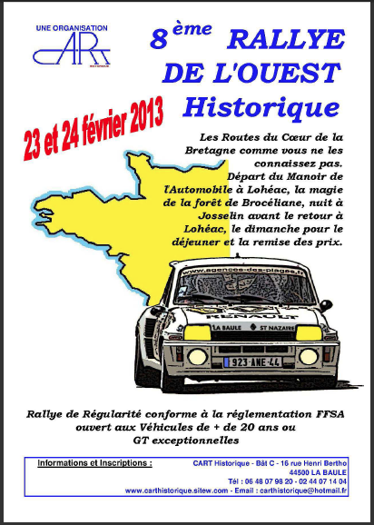 8e rallye de l ouest historique il fallait avoir une voiture rouge. Black Bedroom Furniture Sets. Home Design Ideas